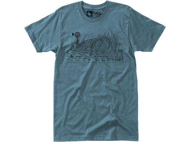 Hippy Tree Windbreak Camiseta Hombre, blue